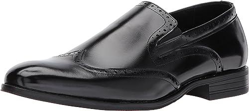 Stacy Adams Sidney Wingtip Slip-on, Slip-on, Chaussures de Ville à Lacets pour Homme US Maenner  loisir