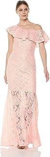 Xscape Women's Long One Shoulder Lace Dress
