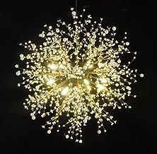 Ganeed Modern LED Firework Chandeliers, 8-Light Black Chandelier Lighting Fixture Acrylic Wrought Iron Hanging Pendant Lig...