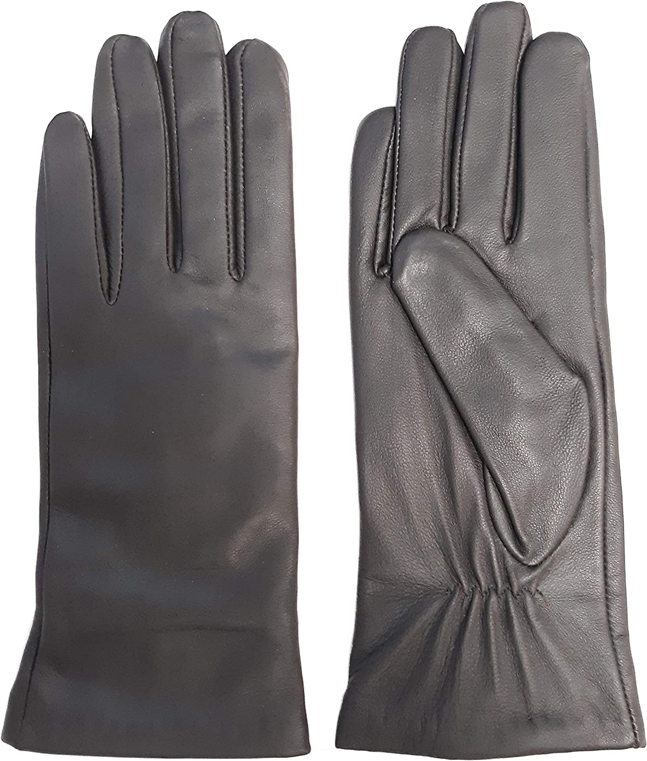 Imperial Soft Ladies Gloves, Dark Brown Cashmere-lined 100% Leather Gloves Small