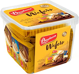 Bauducco Mini Wafer Cookies - Single-Serve Individually Wrapped Crispy Wafers - Perfect On-The-Go Snack - Wafer Treats for Dessert, School & Work Lunch - Chocolate & Vanilla (22 Pack)