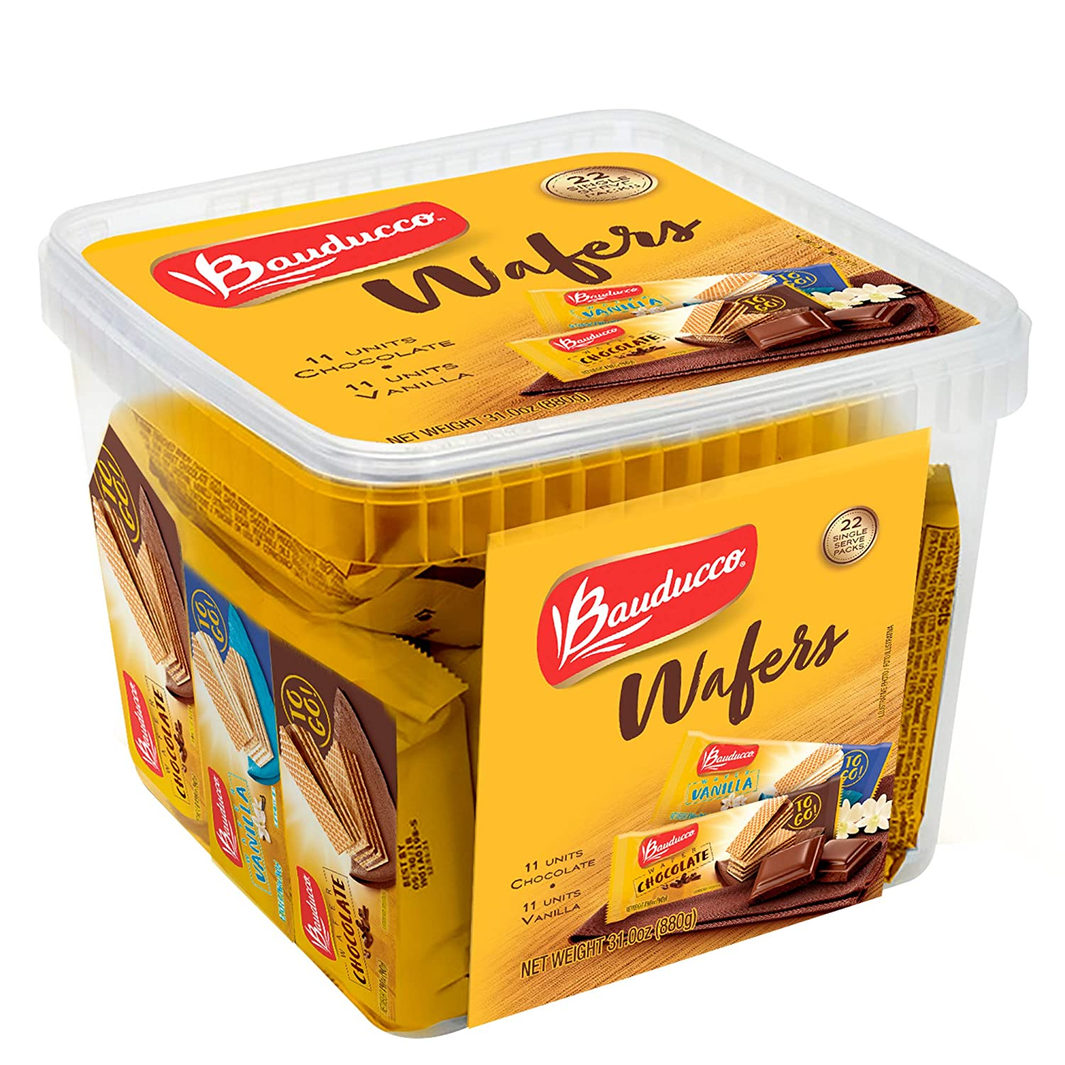 Bauducco Mini Wafer Cookies - Max 87% OFF Chocolate Vanilla with Enriched Be super welcome