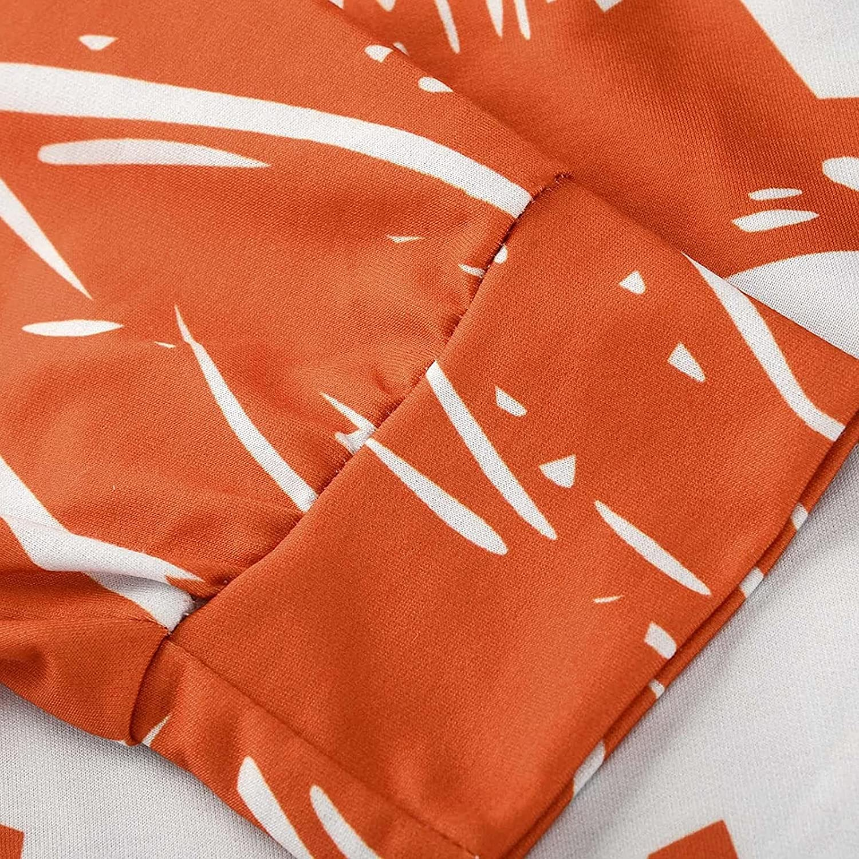 Women Halloween Loose Pumpkin Printing Long Sleeve Sweatshirts Funny Hoodies Pullover Jackets Tops Oversized