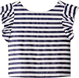 Ruffle Stripe Top (Toddler/Little Kids/Big Kids)