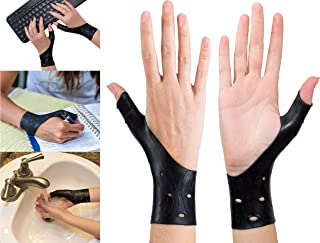 EXCELYFE Breathable Gel Wrist & Thumb Support Braces for Right & Left Hand | Relieves Pain Including Arthritis, Rheumatism, Carpal Tunnel Great for Yoga, Typing, Texting, Golf, Basketball (Black)