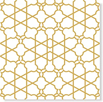 Tamatina Wallpapers | Ethnic Wallpapers | Sticker | Cleanable | Self Adhesive Gum | Geometric Wallpapers | Home Decor Wallpapers | for Shop | Office | Toilet | Spa | Yellow - Size 2.2 Sq Mtrs - GY