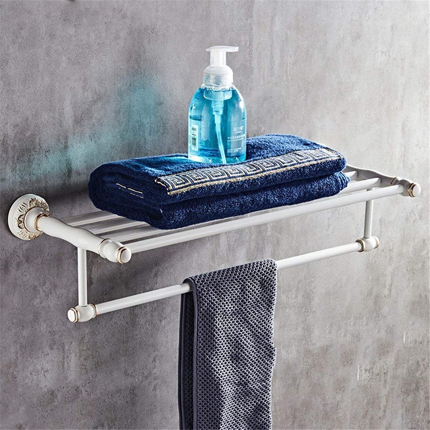 White Paper of European Style of The Alloy of Aluminum Accessories for Bathroom, Hair-Towels Door Bar-Towels Toilet Paper, Rack,B