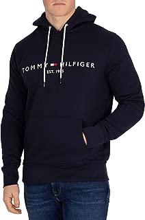 Tommy Hilfiger Men's Logo Pullover Hoodie, Blue