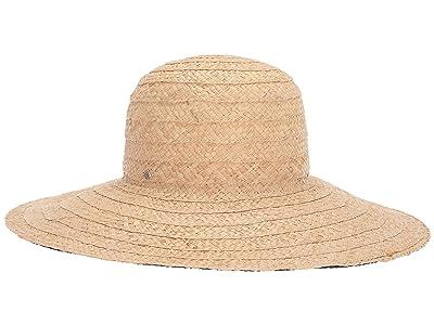 Kate Spade New York Stripe Underbrim Sun Hat (Black) Dress Hats