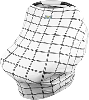 Itzy Ritzy 4-in-1 Nursing Cover, Car Seat Cover, Shopping Cart Cover and Infinity Scarf – Breathable, Multi-Use Mom Boss Breastfeeding Cover, Car Seat Canopy, Cart Cover and Scarf, Windowpane