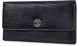 Womens Leather RFID Flap Wallet Clutch Organizer