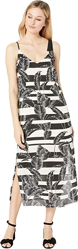 Tropical Shadows Maxi Slip Dress