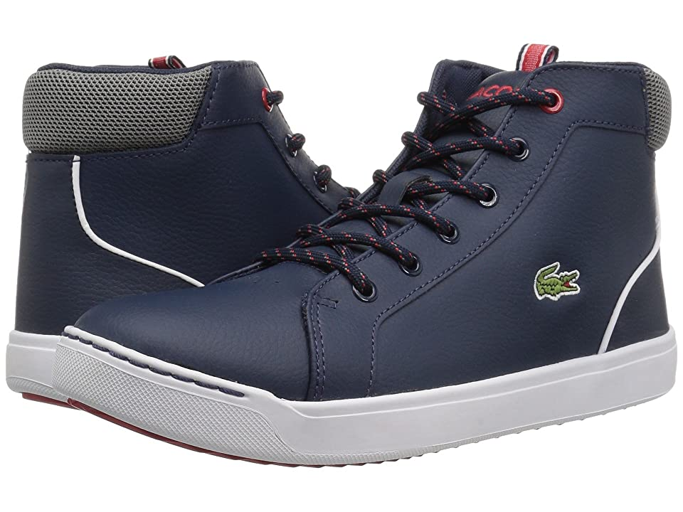 Lacoste Kids Explorateur 118 1 (Little Kid/Big Kid) (Navy/Grey) Kid