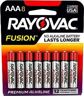 Rayovac Fusion AAA Batteries, Premium Alkaline Triple A Batteries, 8 Count