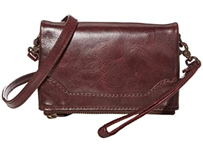 Frye Melissa Leather Stadium Bag Crossbody (Merlot) Cross Body Handbags