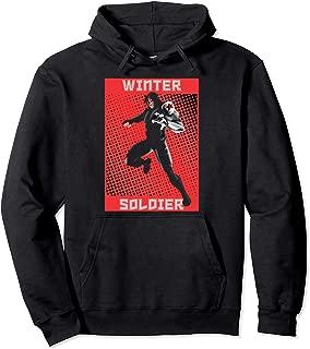 Winter Soldier Halftone Pop Art Poster Pullover Hoodie