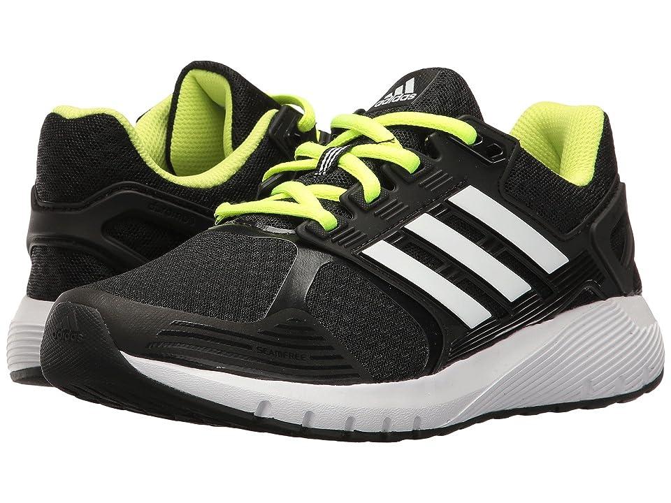 adidas Kids Duramo 8 (Little Kid/Big Kid) (Black/White/Yellow) Boys Shoes