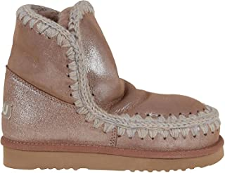 Mou Luxury Fashion Womens FW101001CMGPKBR Pink Ankle Boots | Fall Winter 19
