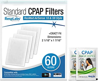 RespLabs CPAP Filters Compatible with ResMed AirSense, AirCurve - S9, AirStart, Autoset 10 | Disposable, Universal Replacement Filter Kit [15 Pack]