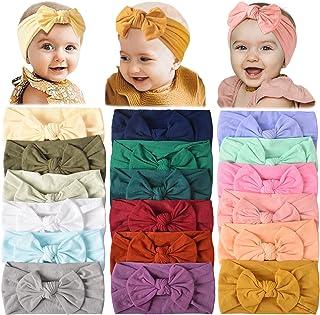 18PCS Baby Nylon Headbands Hairbands Hair Bow Elastics for Baby Girls Newborn Infant Toddlers Kids (Set-18)