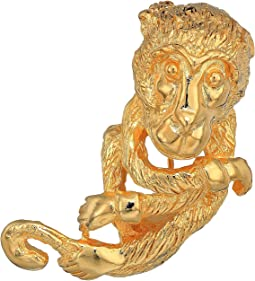 Satin Gold Monkey Pin
