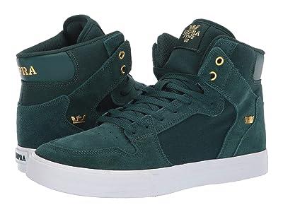 Supra Vaider (Evergreen/Gold/White) Skate Shoes