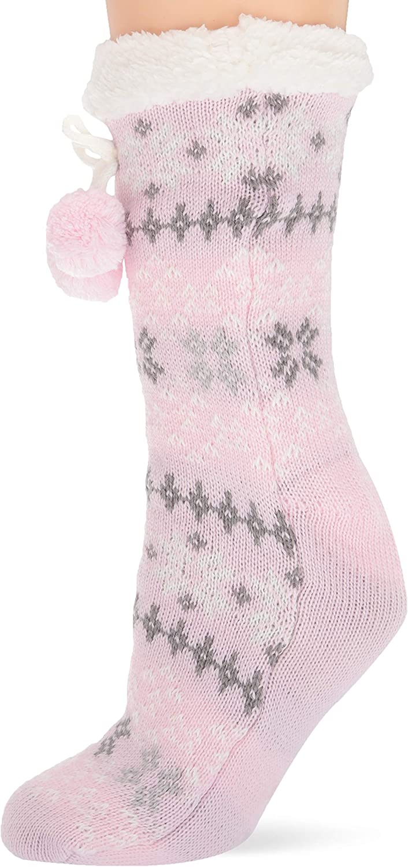 Columbia womens Women's Ribbed Stripe Slipper Socks - 1 Pair