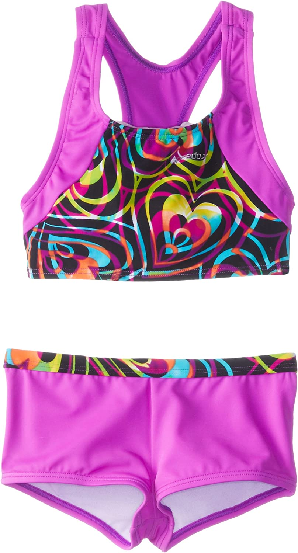 Manufacturer direct delivery Speedo Austin Mall Big Girls' Summer Love Piece Swimsuit Boyshort Two