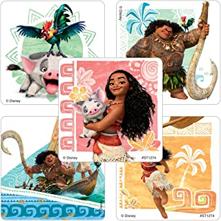 SmileMakers Moana Stickers - Prizes 100 Per Pack