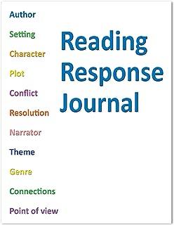 BookFactory Elementary School Reading Response Journal/Classroom Reading Response Book - 10 Pack (8.5