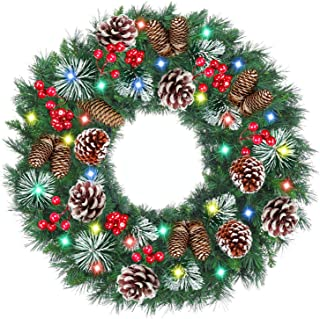 Best led christmas wreath battery operated Reviews