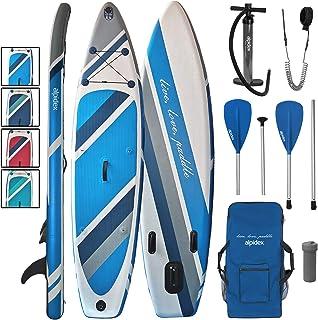 ALPIDEX Tabla Hinchable Surf Stand Up Paddle Board 320 x 76 x 15 cm ISUP Peso Máximo 130 kg Sup Ligero Estable Juego Completo