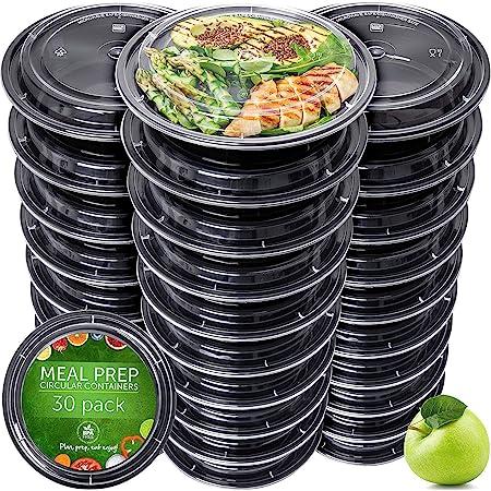 Boite Repas [Lot de 30] Meal Prep Containers - Réutilisables Boites Alimentaires pour Préparation des Repas - Étanche Barquette Congelation Convient pour Lave-Vaisselle Congélateur Micro-Ondes