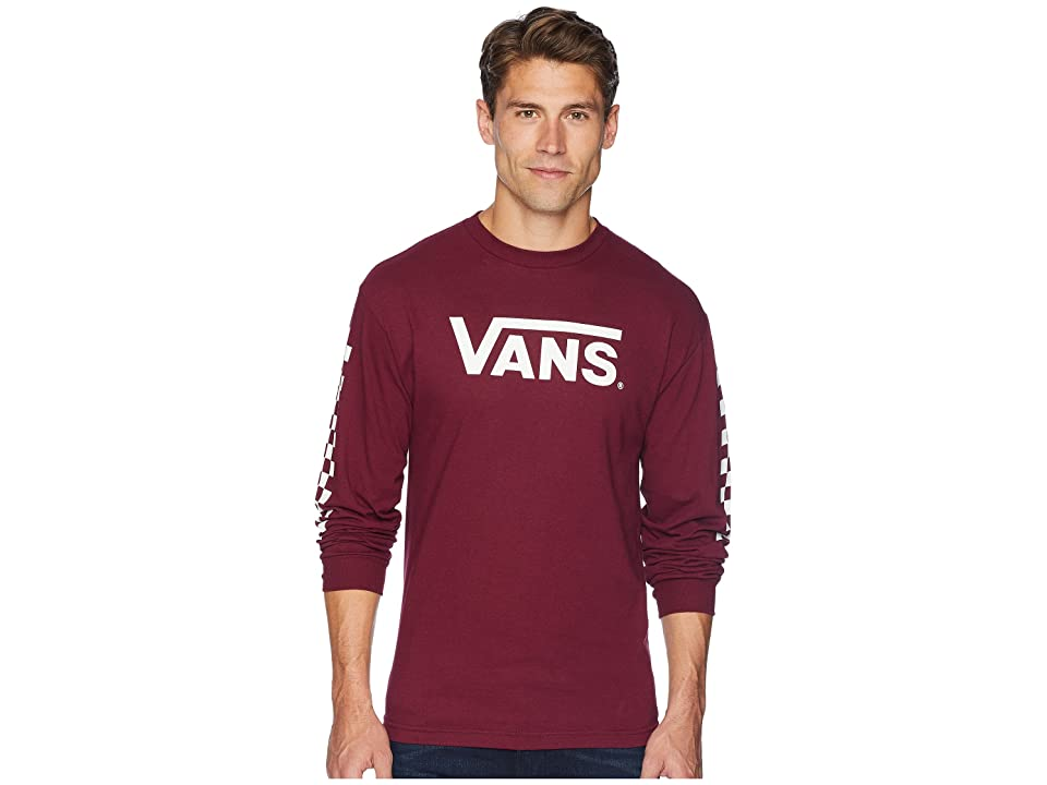 4cd5bdf9 Vans Classic Checks Long Sleeve T-Shirt (Burgundy) Men