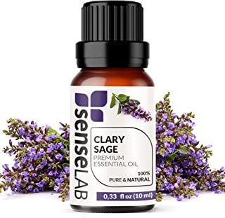 Clary Sage Essential Oil - 100% Pure Extract Clary Sage Oil Therapeutic Grade (0.33 Fl Oz / 10 ml)
