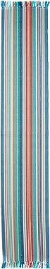 DII Seashore Stripe Fringed Table Runner, Multi
