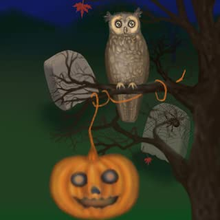 Halloween Owl of a Season Live Wallpaper