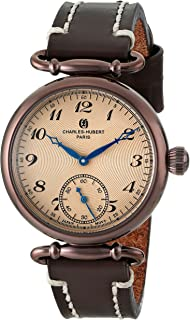Charles-Hubert, Paris Women's 6957-N Premium Collection Analog Display Japanese Quartz Brown Watch