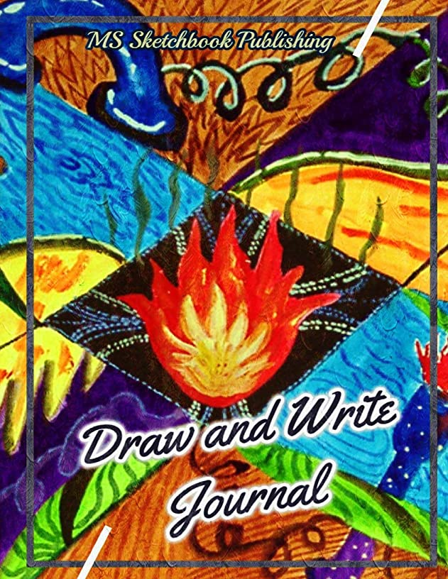 Draw and Write Journal: Creative Blank Writing Drawing Journal for Adults, Kids, Boys, Girls…, Improving and Practicing Writing, Drawing & Doodling ... Pages, Beautiful Oil Painting Cover)(V14)