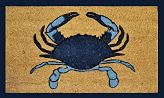 Geo Crafts G384 PVC Blue Crab Entry Way Doormat