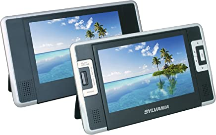 Sylvania SDVD8732 7-Inch Dual Screen Portable DVD Player with Built In 3.5 Hour Lithium