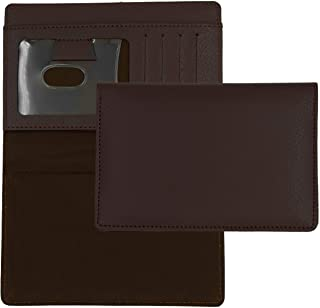 Dark Brown Textured Leather Checkbook Cover for Top Stub Personal Checks