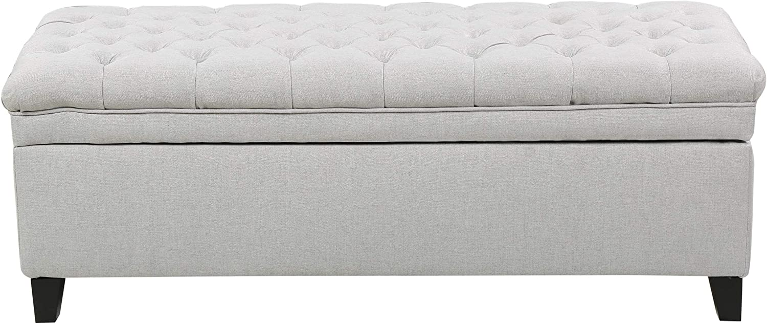 Fixed price for sale Sale item Christopher Knight Home Juliana Fabric Ottoman Light Storage Gr