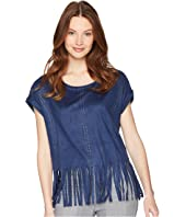 ROMEO & JULIET COUTURE Suede Fringe Top