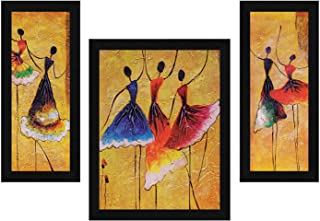 ArtX Paper Dance Love Wall Art, Multicolor, Abstract, 13.5X22.5 in, Set of 3