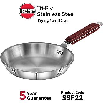 HAWKINS Tri-ply Stainless Steel Frying Pan, 22 cm