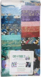 Ann Lauer Cat-I-Tude 2 Purrfect Together Strip-Pies 40 2.5-inch Strips Jelly Roll Benartex