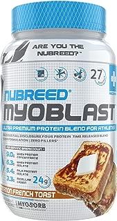 Nubreed MYOBLAST Cinnamon French Toast | Ultra Premium Protein Blend | 27 Servings