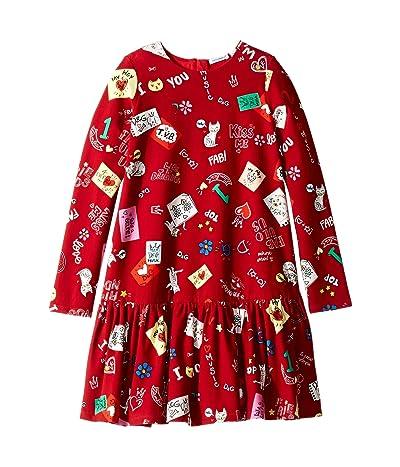 Dolce & Gabbana Kids Knit Cat Love Dress (Big Kids) (Gatti Love Print) Girl