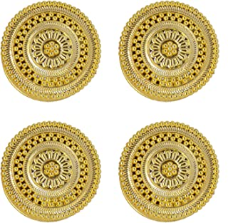 Baal Small Pooja Kumkum Box for God Worship Perfect for Your Home Temple Golden Set of 4 Pcs